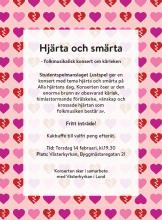 Affisch konsert Hjärta och smärta